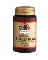 GINSENG Y JALEA REAL 600 MG 60 CAPS - OBIRE