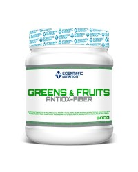 GREENS & FRUITS ANTIOX-FIBER 300 GRS - SCIENTIFFIC NUTRITION
