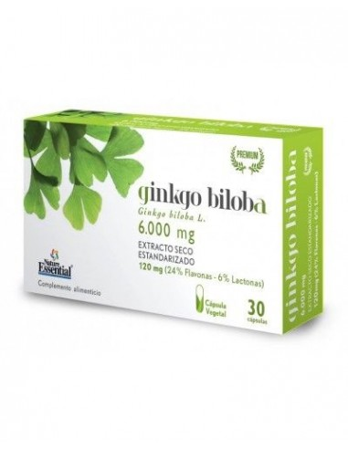 GINKGO BILOBA 6000 MG EXTRACTO SECO 30 CAPS - NATURE ESSENTI