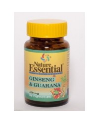 GINSENG Y GUARANA 400 MG 50 CAPS - NATURE ESSENTIAL
