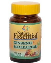 GINSENG Y JALEA REAL 600 MG 50 CAPS - NATURE ESSENTIAL